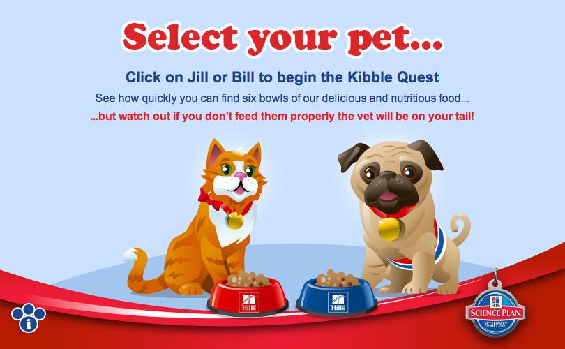 Kibble Quest – Select your pet