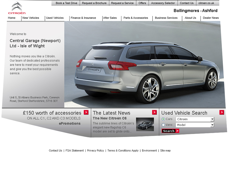 Citroen Dealers – Homepage