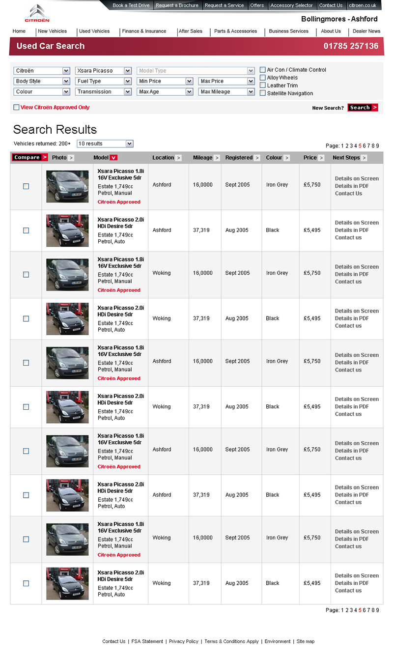 Citroen Dealers – Search Results
