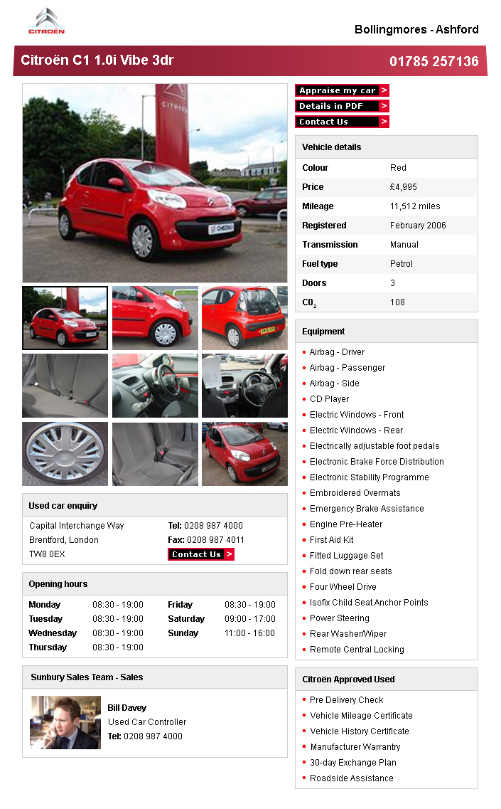 Citroen Dealers – Car Details