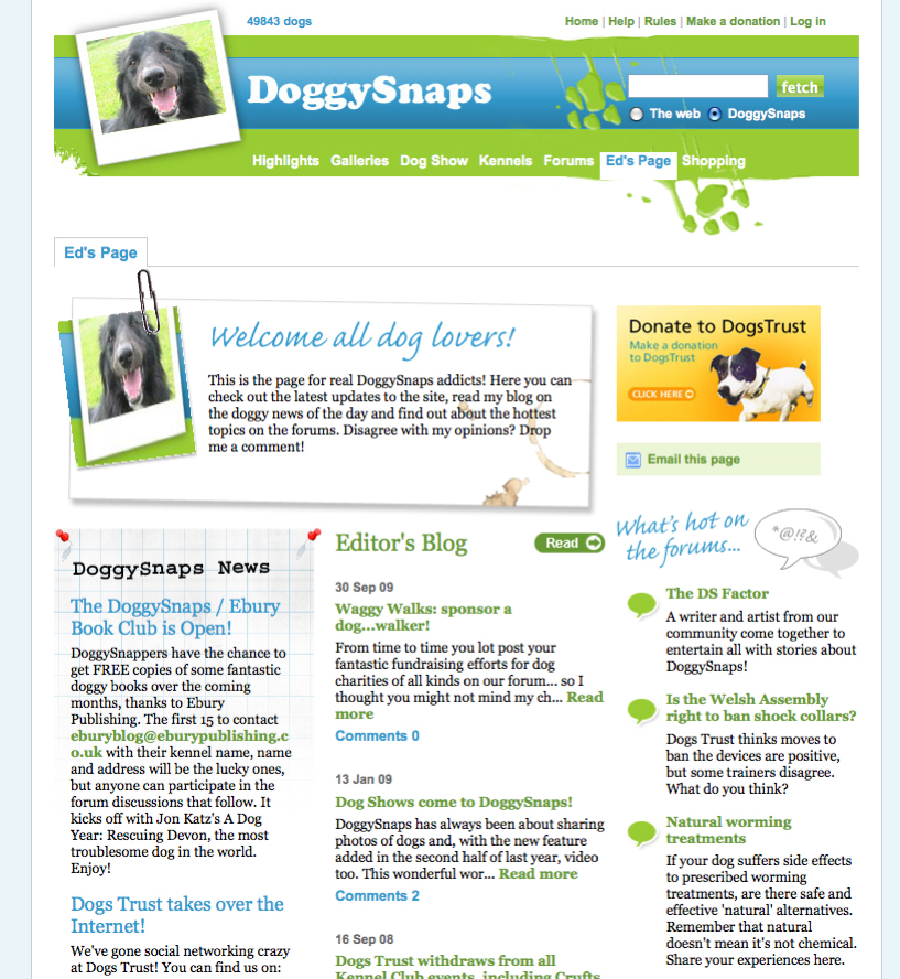 DoggySnaps - Editor's blog