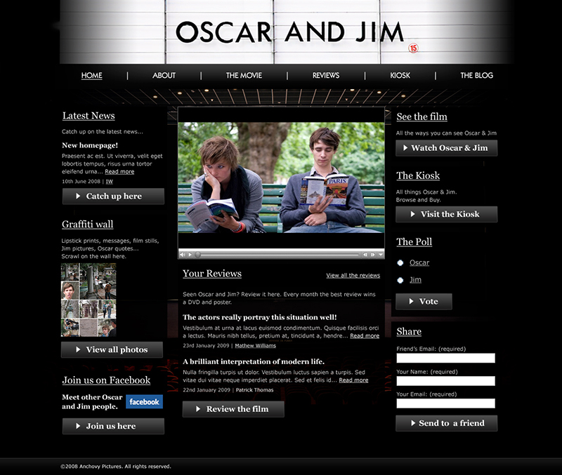 Oscar & Jim – Homepage