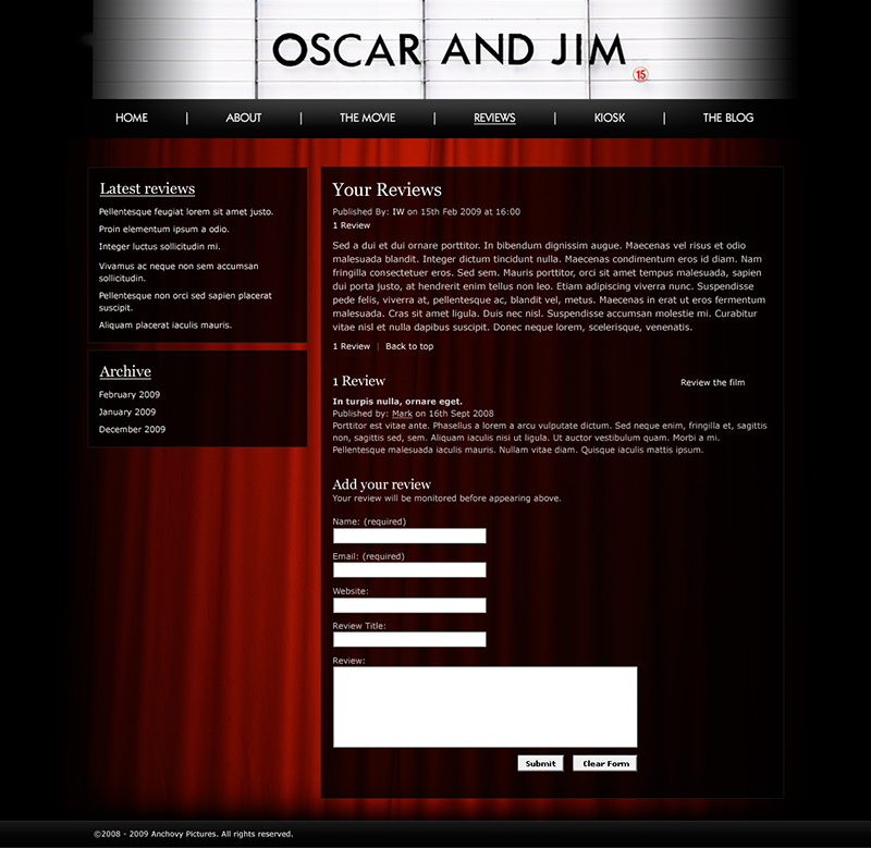 Oscar & Jim – The blog