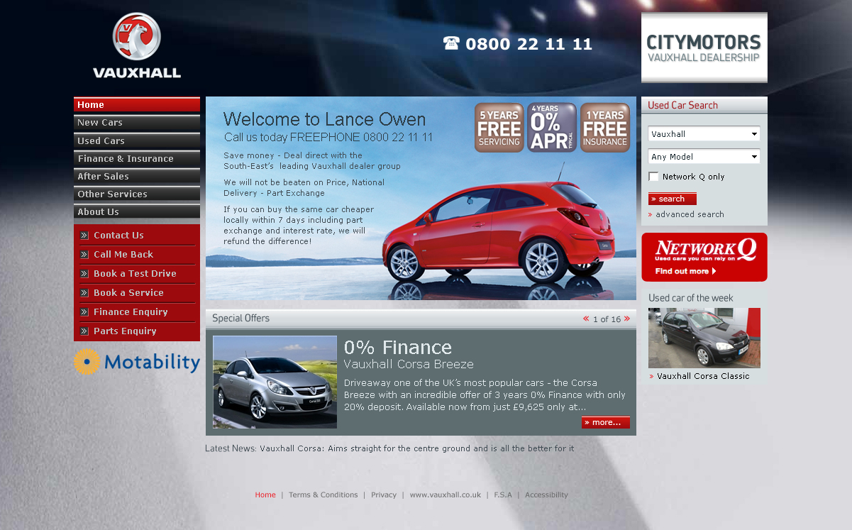 Vauxhall Dealers – Homepage