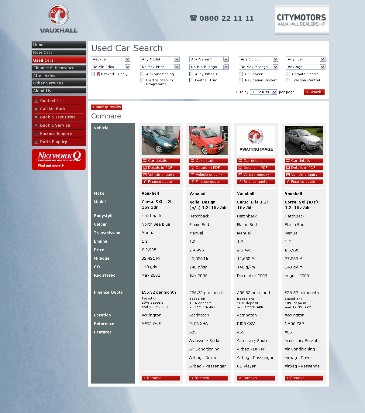 Vauxhall Dealers – Compare