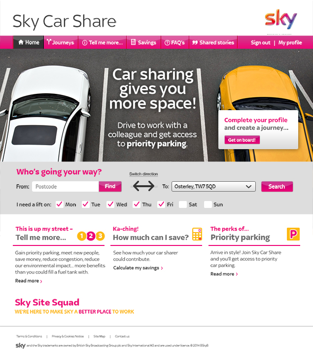 Car Share – Homepage